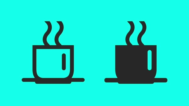 vídeos de stock e filmes b-roll de hot tea - vector animate - chávena de chá