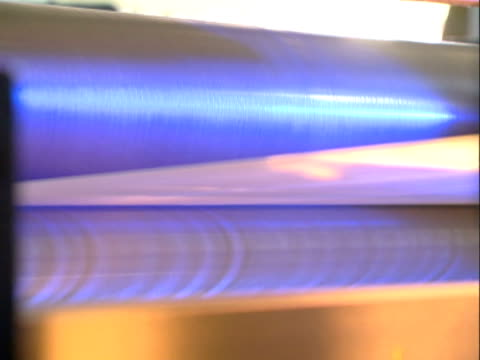 hot textile production - cylinder stock videos & royalty-free footage