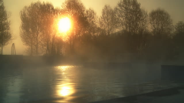 HD: Hot Thermal Water At Sunset