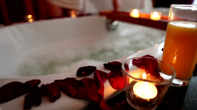 hot tub in hotel room - spa treatment stock videos & royalty-free footage