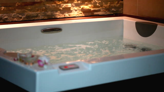 hot tub (hd) - bubble bath stock videos and b-roll footage