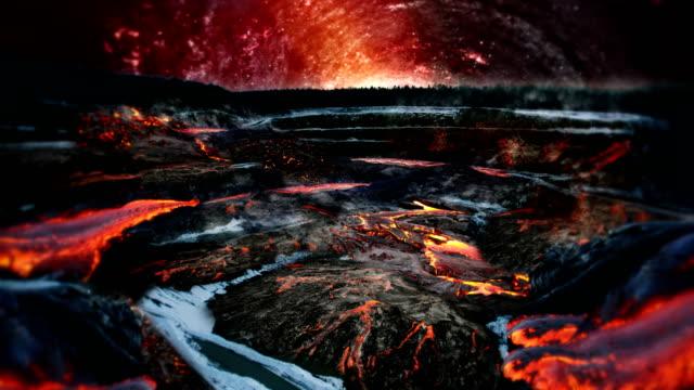 hot vulcano scenery