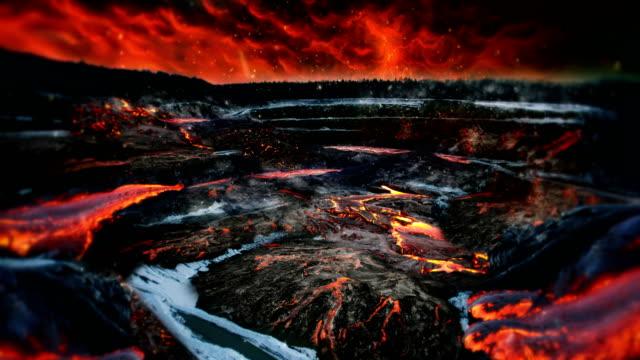 heißer Vulkan Landschaft