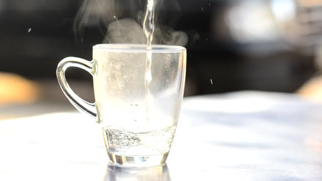 hot water glass - mug stock videos & royalty-free footage