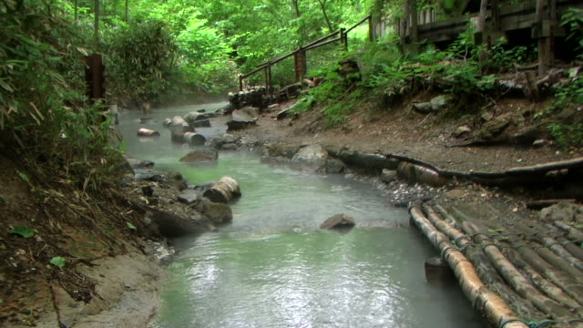 hd: hot water river (video) - hot spring stock videos & royalty-free footage