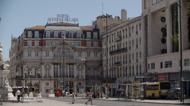hotel avenida palace - avenida stock videos & royalty-free footage