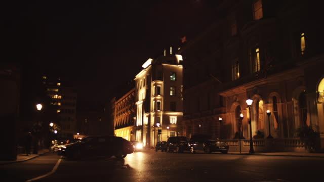 MS PAN Hotel building at night / London, England