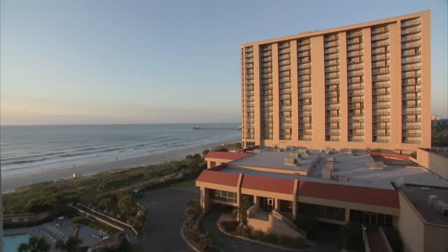 ws hotel by the beach / myrtle beach, south carolina, united states - carolina beach stock videos & royalty-free footage