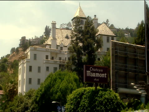 Hotel Chateau Marmont building and sign Los Angeles