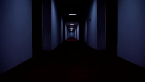 vídeos y material grabado en eventos de stock de pasillo del hotel - pasillo característica de edificio