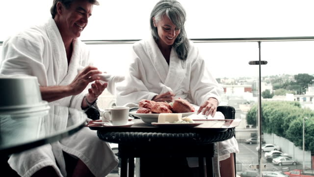 SLOW MOTION - Hotel Couple Breakfast Wireless