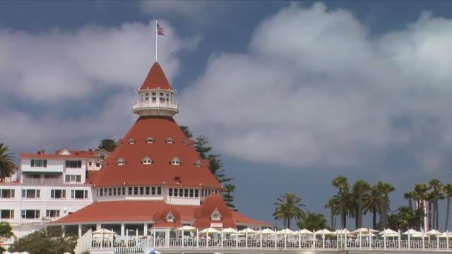 ms pan hotel del coronado, san diego, california, usa - kegel stock-videos und b-roll-filmmaterial
