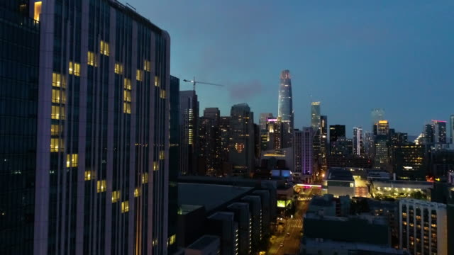 hotel heart windows in san francisco - aerial stock videos & royalty-free footage