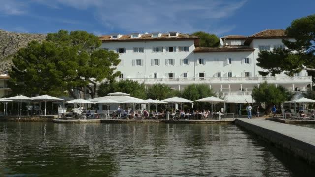 hotel illa d'or, puerto pollensa, mallorca, balearic islands, spain, mediterranean, europe - majorca stock videos & royalty-free footage