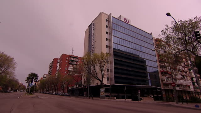 a hotel in madrid used as a makeshift hospital during the coronavirus crisis - hotel stock videos & royalty-free footage
