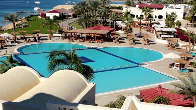 hotel in sharm el-sheikh. egypt. - sinai egitto video stock e b–roll