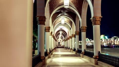 vídeos y material grabado en eventos de stock de tl hotel. look out on the archway / egypt - hotel de lujo