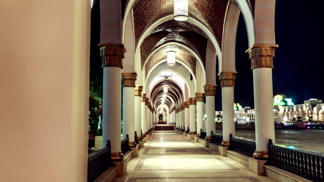 tl hotel. look out on the archway / egypt - luxushotel stock-videos und b-roll-filmmaterial