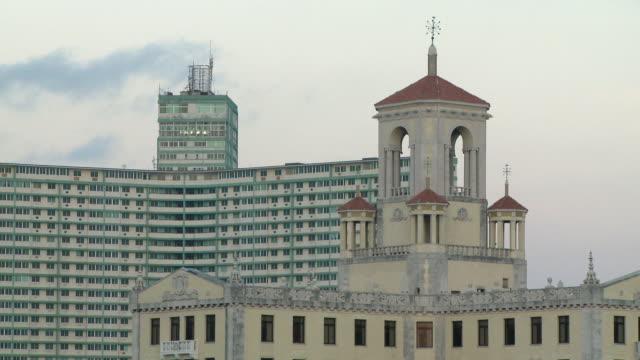 ms hotel nacional and focsa building in vedado / havana, cuba - hotel nacional stock videos and b-roll footage
