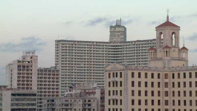 ws hotel nacional and focsa building in vedado / havana, cuba - hotel nacional stock videos and b-roll footage
