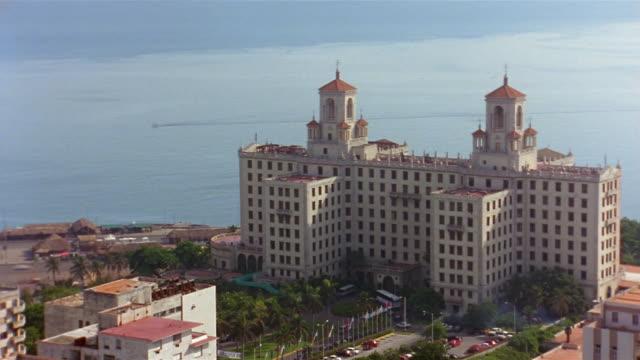 t/l, ms, ha, hotel national,  havana, cuba  - fan palm tree stock videos & royalty-free footage