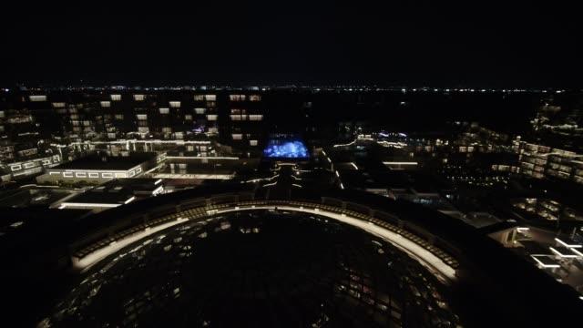 hotel okada manila at night, philippines - 高級ホテル点の映像素材/bロール