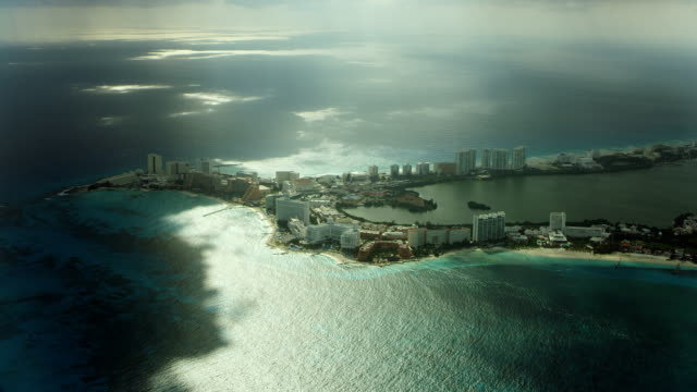 hotels and resorts on cancun coast - cancun stock videos & royalty-free footage
