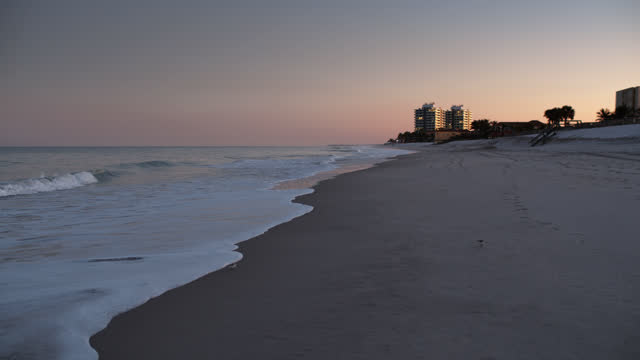 hotels on vero beach, florida at sunset - hotel stock videos & royalty-free footage