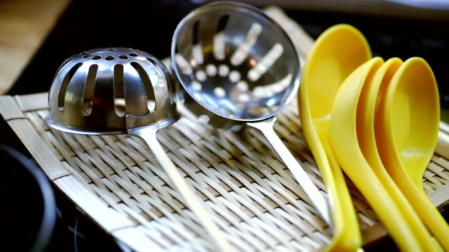 Hotpot utensil tool, spoon, strainer ladle.