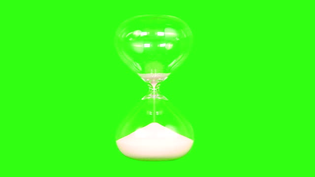 hour glass with green screen background - hourglass stock videos & royalty-free footage