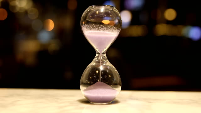 hourglass clock - hourglass stock videos & royalty-free footage
