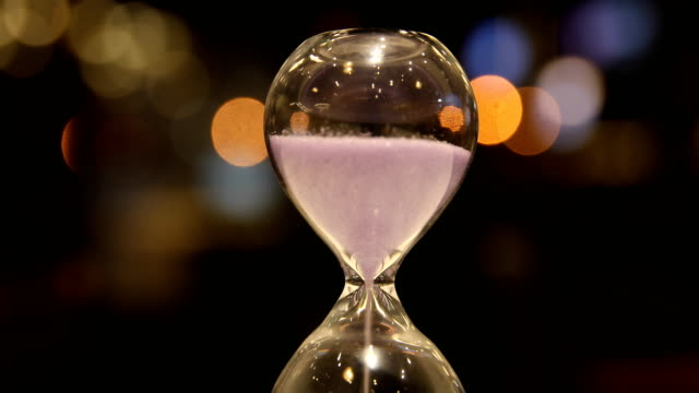 hourglass clock - antique stock videos & royalty-free footage