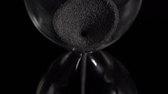 hourglass closeup - dark stock videos & royalty-free footage