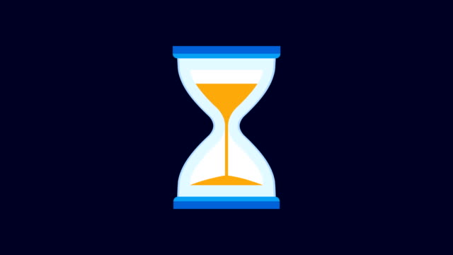 hourglass, sand timer, or sand clock measuring time and turning upside down - hourglass stock videos & royalty-free footage