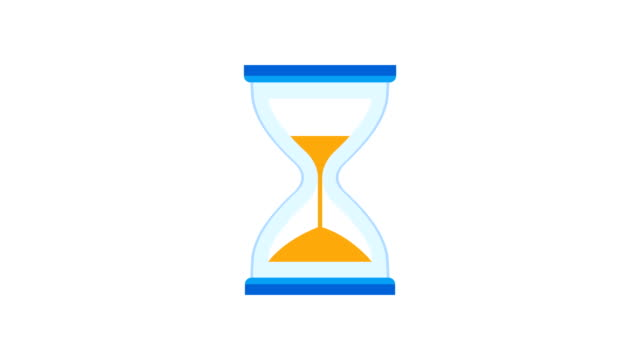hourglass, sand timer, or sand clock measuring time and turning upside down - stop watch stock videos & royalty-free footage