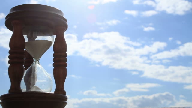 Hourglass with clouds Timelapse