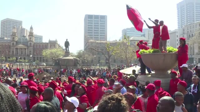 Hours before South African lawmakers hold a vote of no confidence on Jacob Zuma citizens take to the streets of Pretoria to ask the president to step...