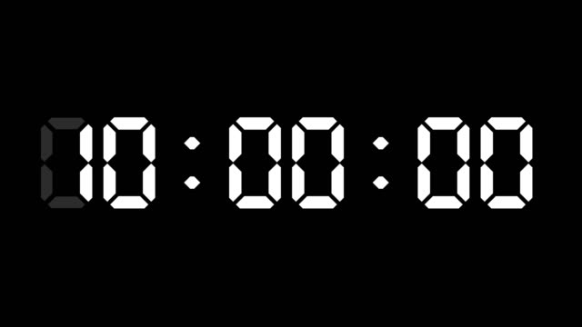 24 hours digital clock animation. you can stop at the beginning of every hour. simple led twenty four numbers. time counter symbol and countdown stock video. you can use it as minute, second and milliseconds. - stop watch stock videos & royalty-free footage