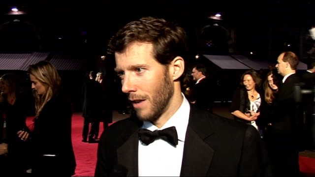 '127 Hours' film premiere celebrity arrivals Aron Ralston interview SOT On the journey from the book to the film / film is close to being a...