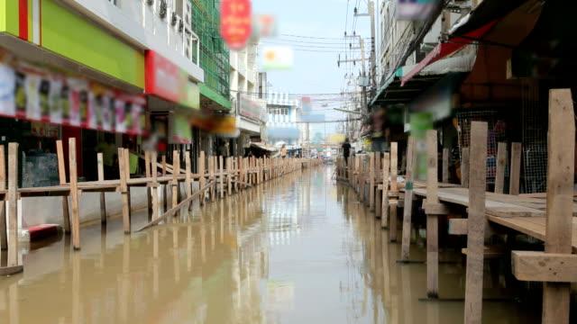 Haus und Markt Überschwemmung