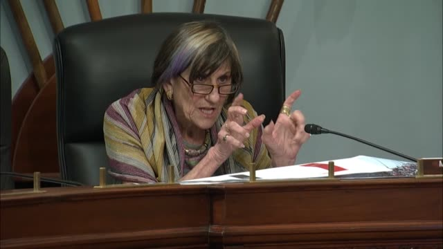 house appropriations subcommittee on labor and health chairwoman rosa delauro of connecticut tells cdc director robert redfield at an oversight... - department of homeland security stock videos & royalty-free footage