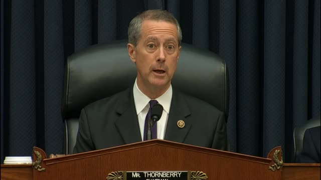 house armed services chairman mac thornberry of texas delivers his opening statement at an update on cyber defense thornberry reminds participants... - united states department of defense stock videos and b-roll footage
