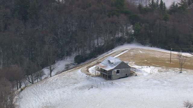 MS AERIAL ZI house at Pisgah National Forest / North Carolina, United States