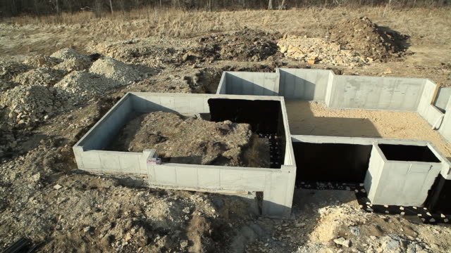 house basement wall foundation with waterproof sealant - basement stock videos and b-roll footage