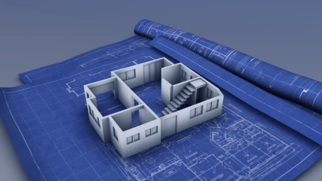 house blueprint - blueprint stock videos & royalty-free footage