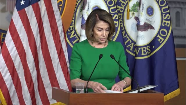 house democratic leader nancy pelosi of california answers questions from reporters at a weekly press briefing saying that the president's comments... - nancy pelosi stock videos and b-roll footage