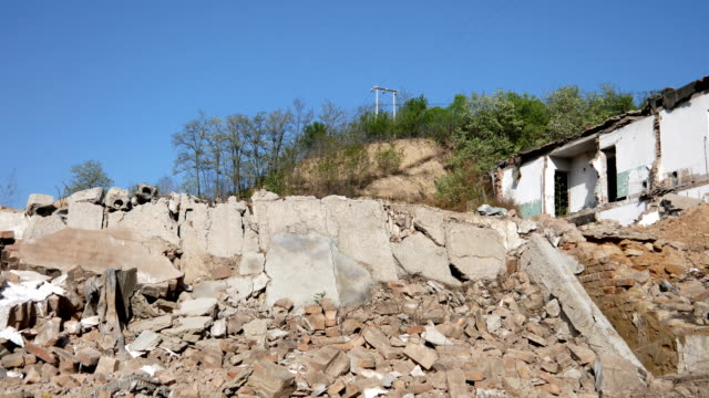 a house demolished or damaged in the ruins - rubble stock videos & royalty-free footage