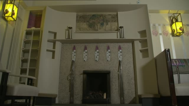 house designed by charles rennie mackintosh to be boxed in for preservation scotland helensburgh ext various of hill house designed by the architect... - charles rennie mackintosh stock videos and b-roll footage