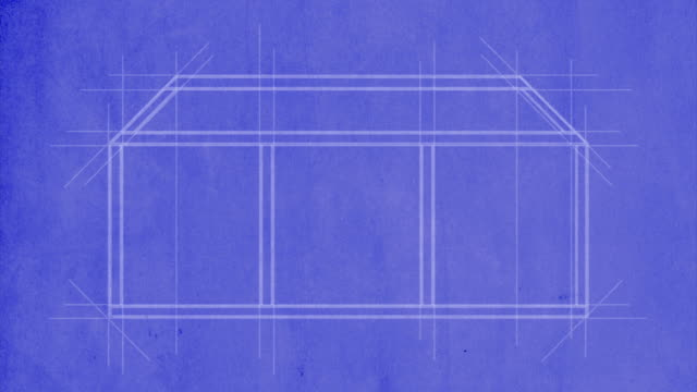 house drawn on blueprint - houses in a row stock videos & royalty-free footage