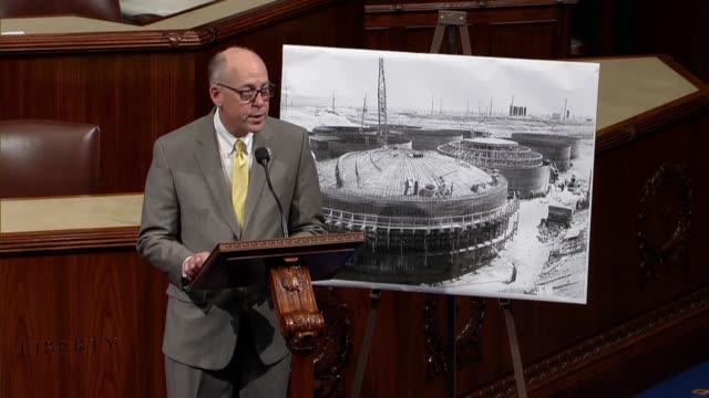 vídeos de stock, filmes e b-roll de house energy and commerce committee chairman greg walden of oregon says in debate on a nuclear waste policy bill that americans are watching and... - doe